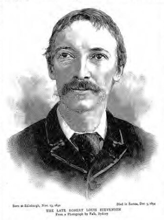 historical newspaper report on Robert Louis Stevenson