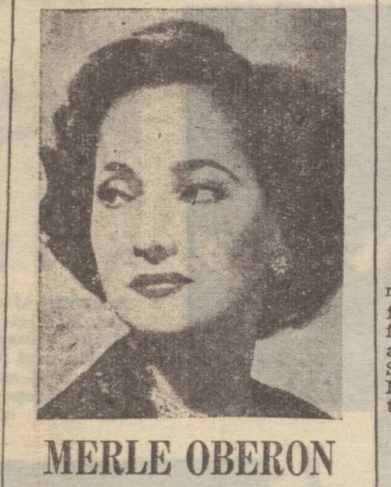 historical newspaper report on Merle Oberon