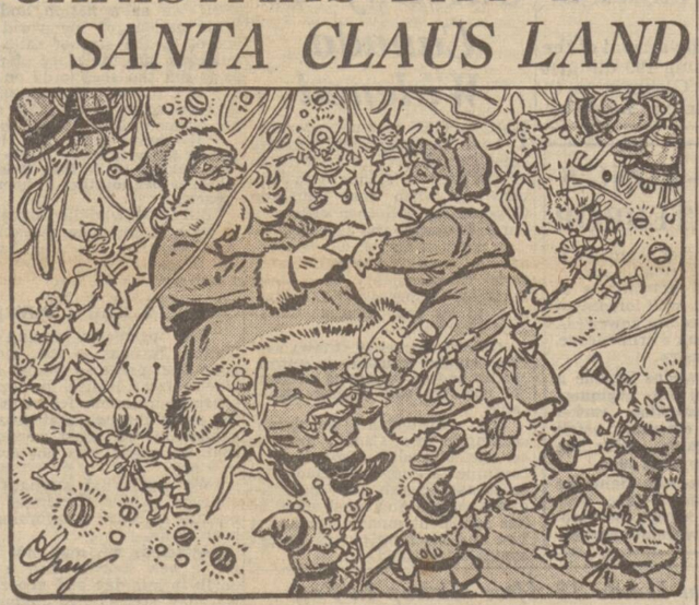 historical newspaper report on santa claus