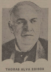 historical newspaper report on edison