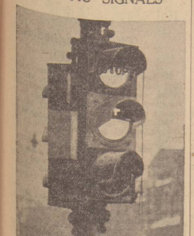 historical newspaper report on traffic lights