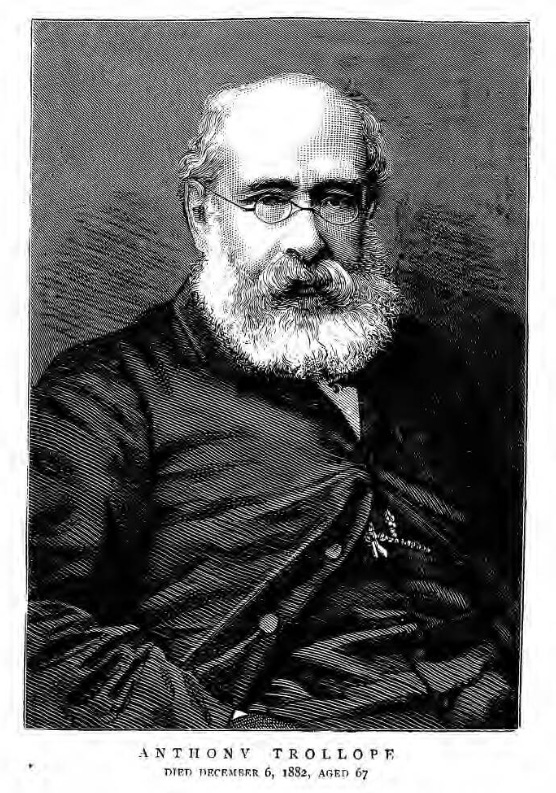 historical newspaper report on Anthony Trollope