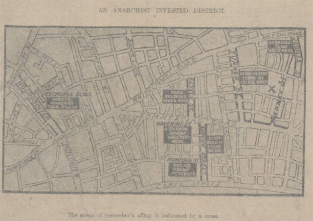 historical newspaper report on sidney street siege