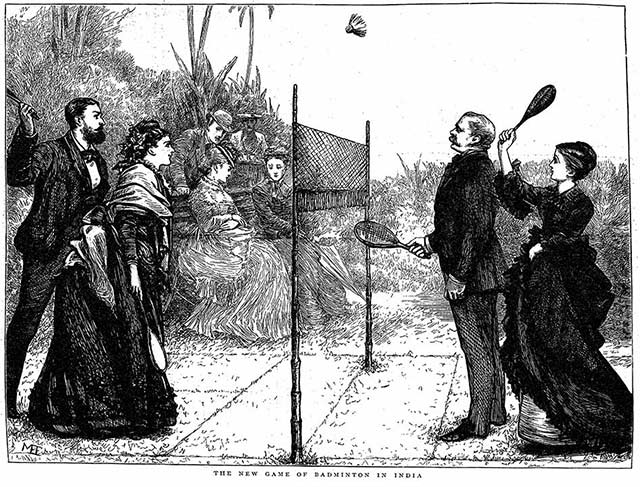 Badminton illustration from The Graphic