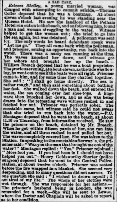 Hastings and St Leonards Observer - 16 February 1889