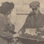 1930s Shamrock sellers in Plymouth