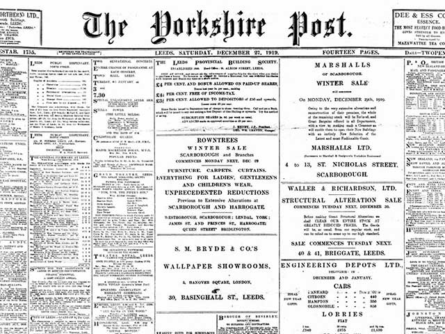 The Yorkshire Post and Leeds Intelligencer