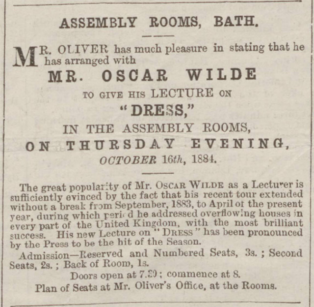Oscar Wilde at Bath