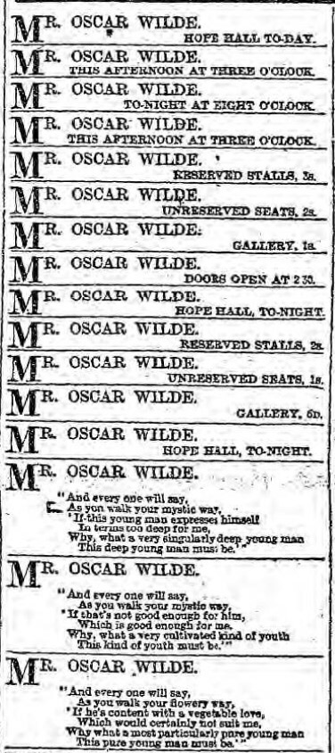 Oscar Wilde at Liverpool