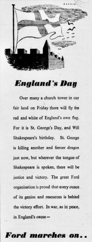 St George's Day advert