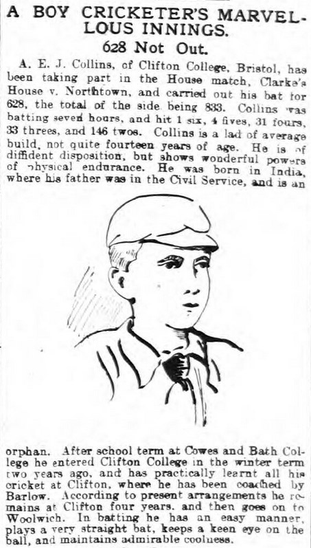 A. E. J. Collins in the Blackburn Standard