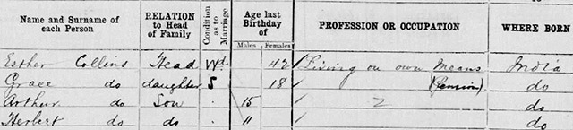 1901 census proves A. E. J. Collins was not an orphan in 1899