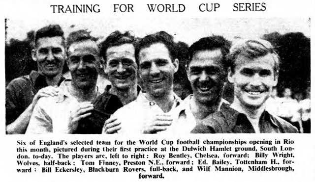 England World Cup team 1950