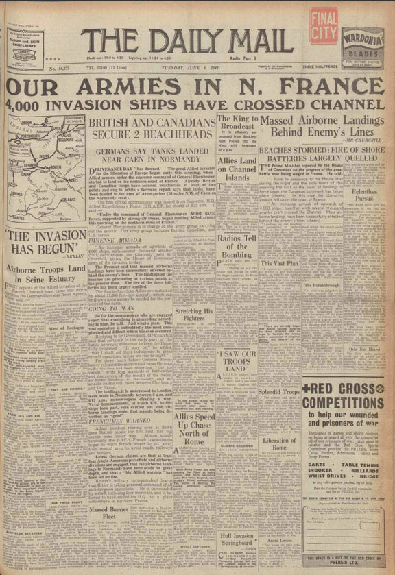 Hull Daily Mail, 6 June 1944