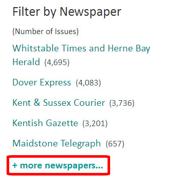 How to find a full list of newspaper titles from Kent at The British Newspaper Archive