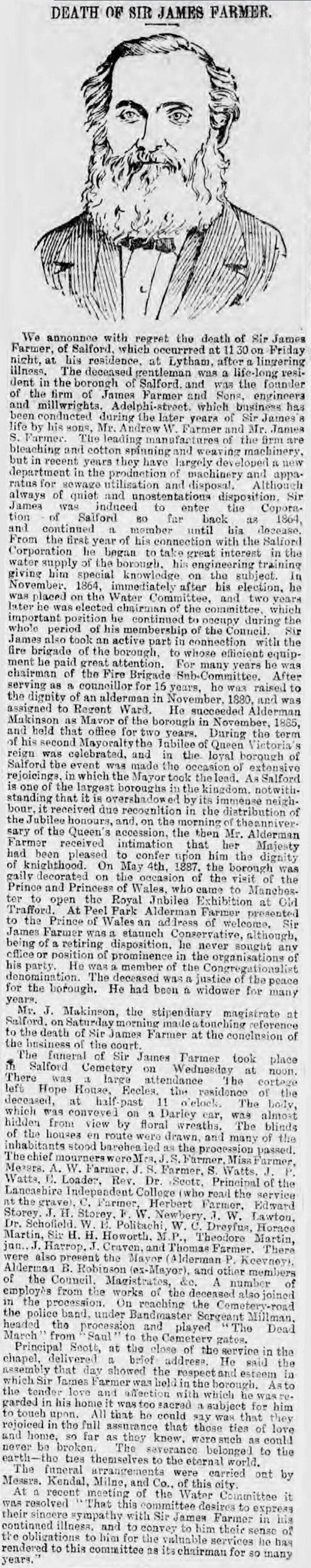 Obituary of Sir James Farmer