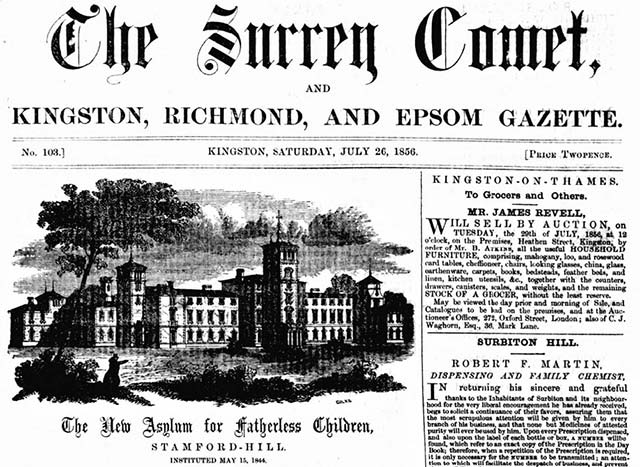The Surrey Comet's newspaper archives are online at The British Newspaper Archive