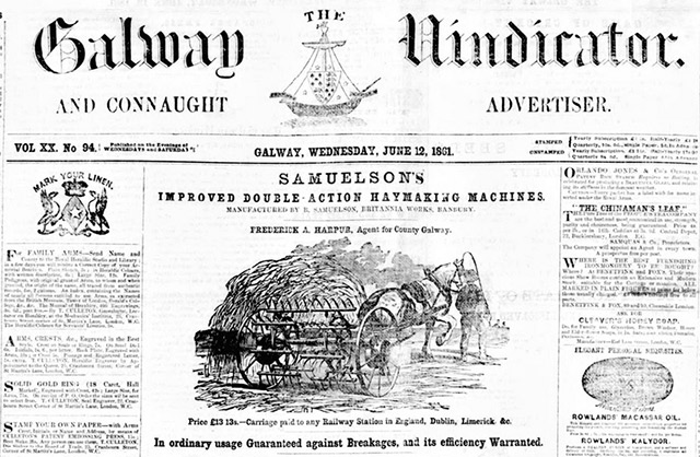 Search the newspaper archives of the Galway Vindicator