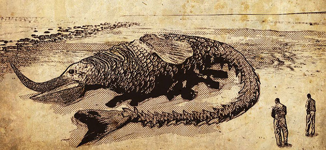 What the giant monster might have looked like in 1877