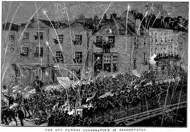 Guy Fawkes celebrations at Bridgewater in 1883