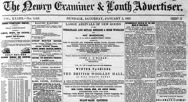 The Newry Examiner newspaper archives are now online