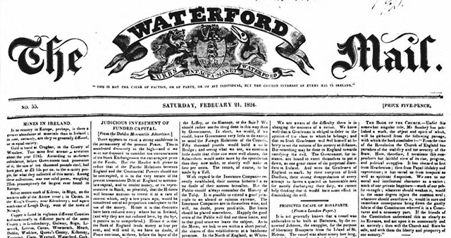 Search the Waterford Mail newspaper archives