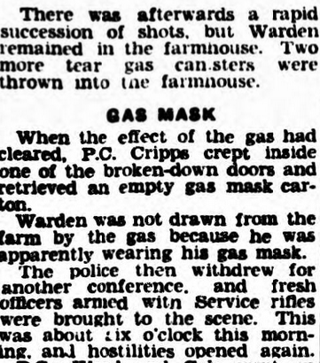 Crime & the Blitz 6 gas mask used to negate Tear Gas -Lancashire Evening Post - Tuesday 23 July 1940