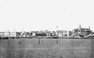 A Panorama of Zanzibar Harbour, with HHS Glasgow clearly visible