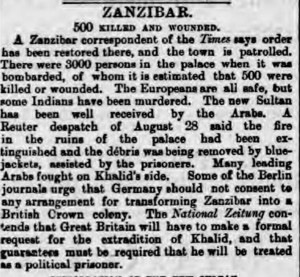 The Sultan fled to the German Consulate shortly before surrendering - Dover Express - Friday 04 September 1896