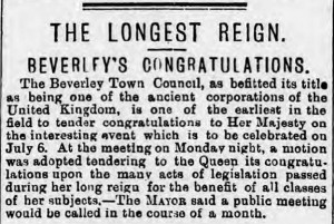 The Longest Reign - Hull Daily Mail - Tuesday 09 March 1897