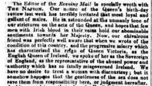 Dublin Weekly Nation July 14 1851 © THE BRITISH LIBRARY BOARD. ALL RIGHTS RESERVED