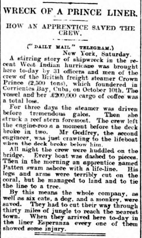 Sunderland Daily Echo and Shipping Gazette - Monday 07 November 1910