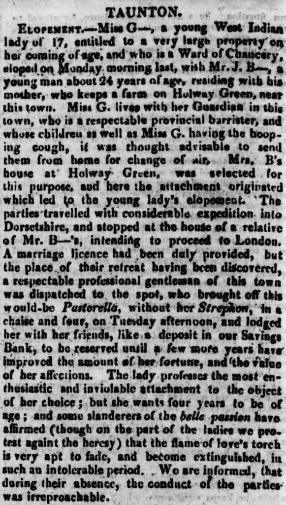 Taunton Courier 25 September 1817 © THE BRITISH LIBRARY BOARD. ALL RIGHTS RESERVED