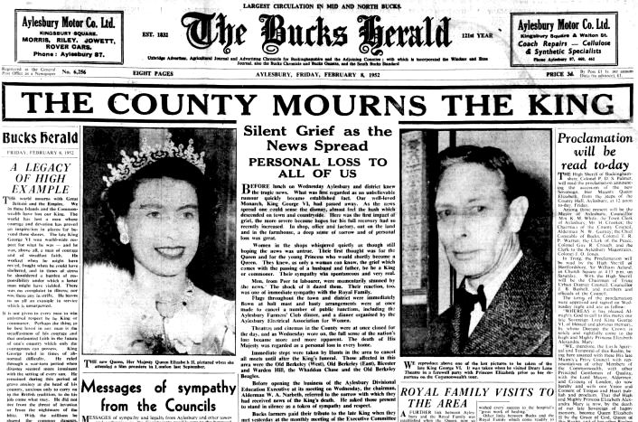 The Buck Herald - 8 Feb 1952 Death of King, New Queen