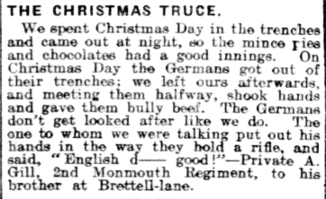 Birmingham Daily Gazette, 12 January 1915