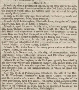 Death notices_Hereford Journal 1843