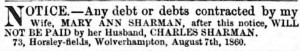 Wolverhampton Chronicle and Staffordshire Advertiser August 1860