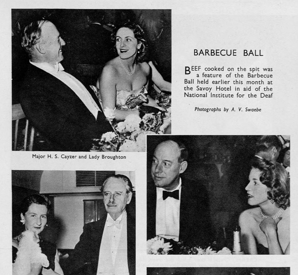 The barbecue ball, The Sketch, 1956