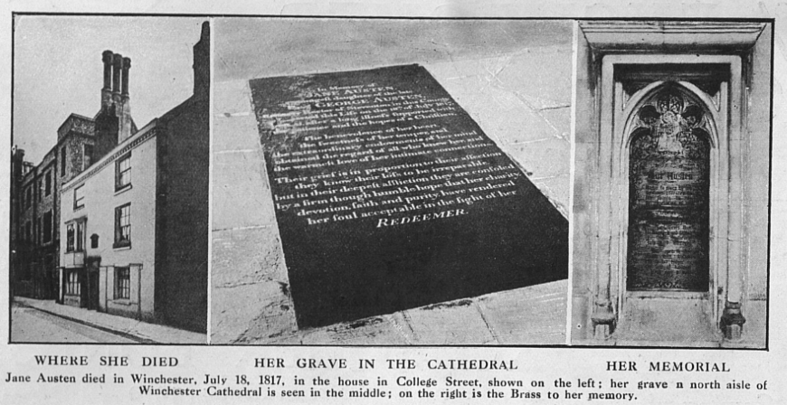 Jane Austen's tombstone and place of death
