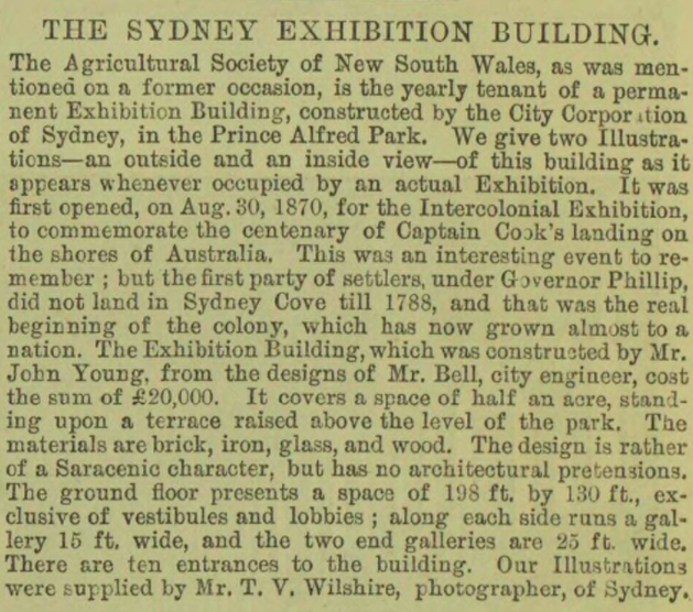 Sydney Exhibition Building