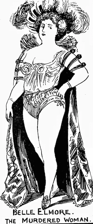 Illustration of Belle Elmore (Cora Crippen)