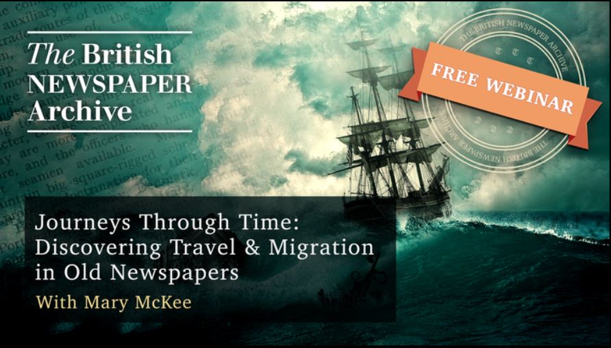 Journeys Through Time: Discovering Travel & Migration in Old Newspapers, Thursday, July 20, 2017, 4PM BST