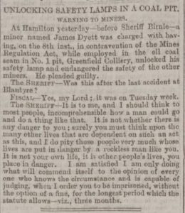 Miner imprisoned 1879