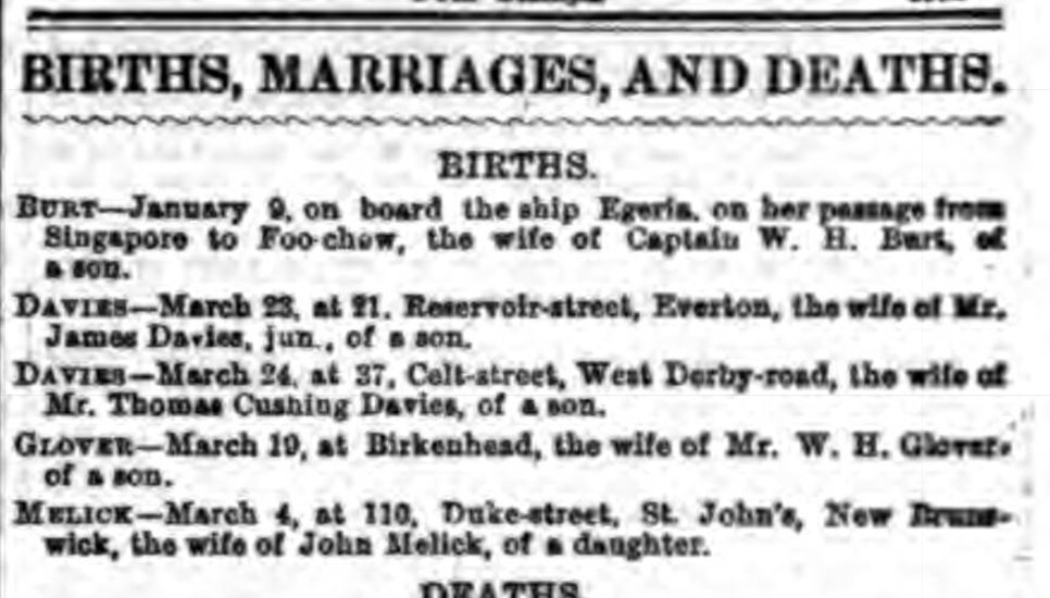 Liverpool Daily Post 25 March 1869