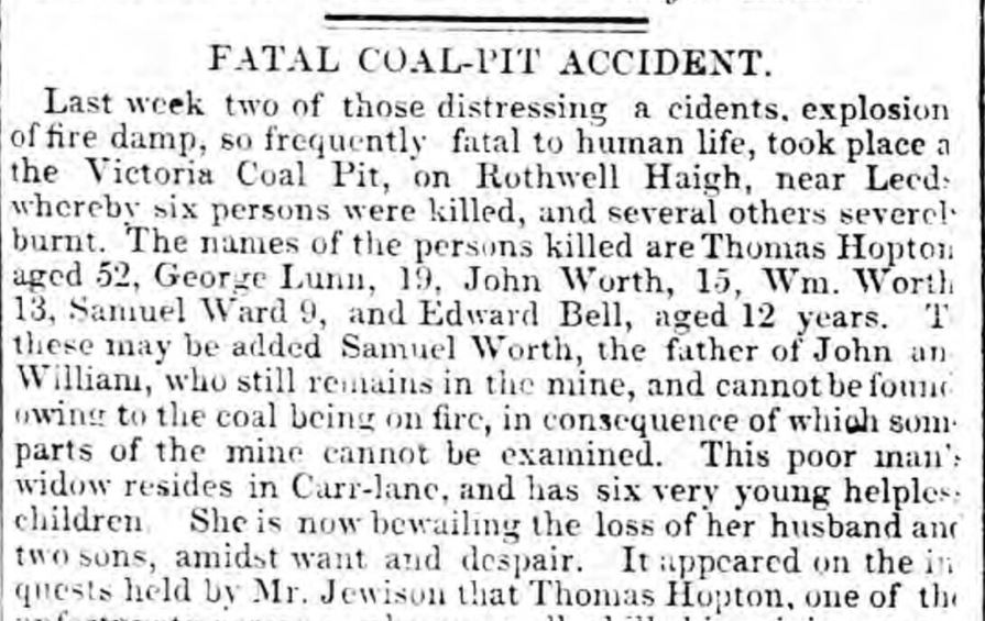 Fatal Coal Pit Accident
