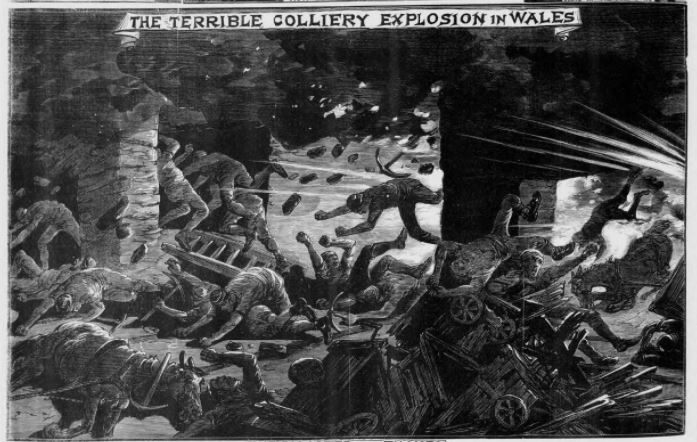 The terrible colliery explosion in Wales