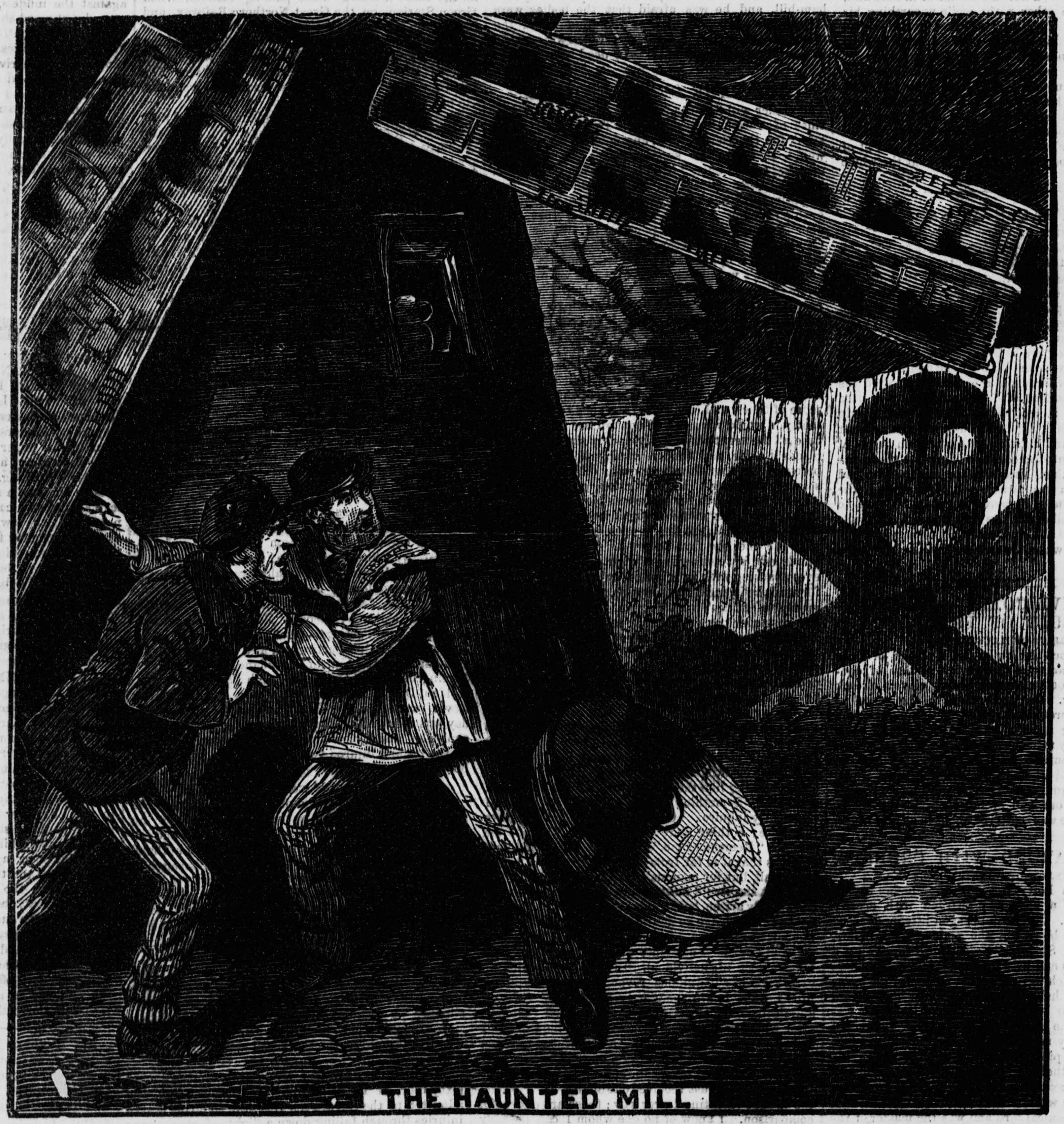 The haunted mill illustration