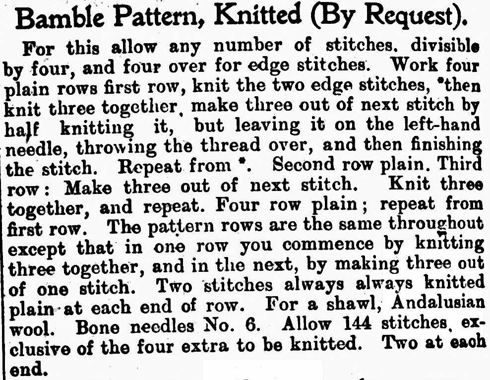 knitted bamble pattern