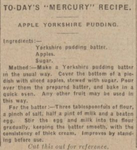 Apple Yorkshire Pudding, Leeds Mercury