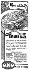 OXO cube, cornish pasty